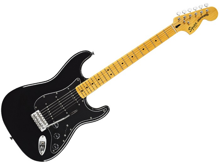 FENDER-SQUIER STRATOCASTER VINTAGE MODIFIED 70S- BLACK